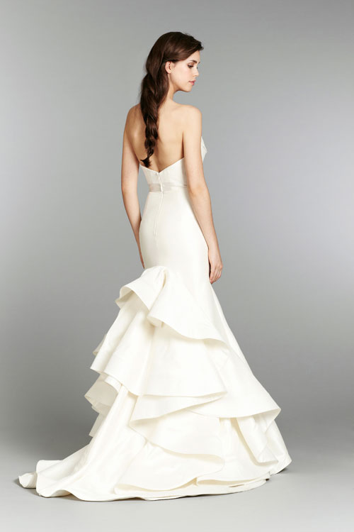 blush ivory bridal gowns with chapel train fall 2013 collection 06