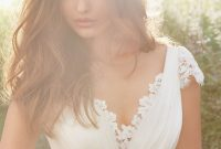 blush ivory organza bridal gown 2013 fall collection 01