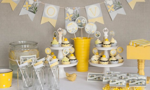 Yellow Bridal Shower Decoration Ideas