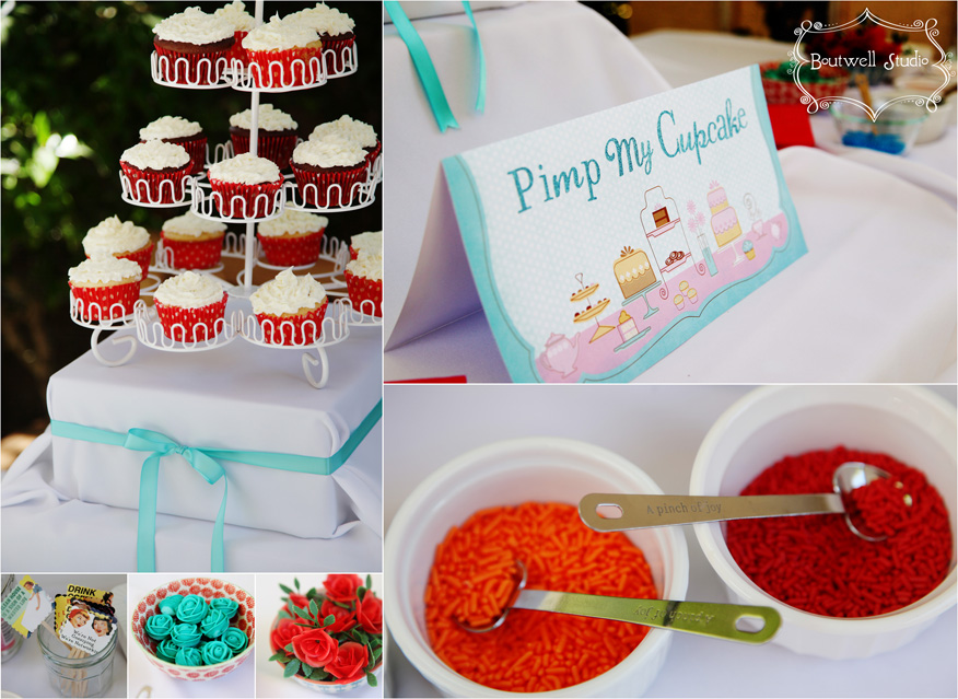 bridal shower decorations with cakes