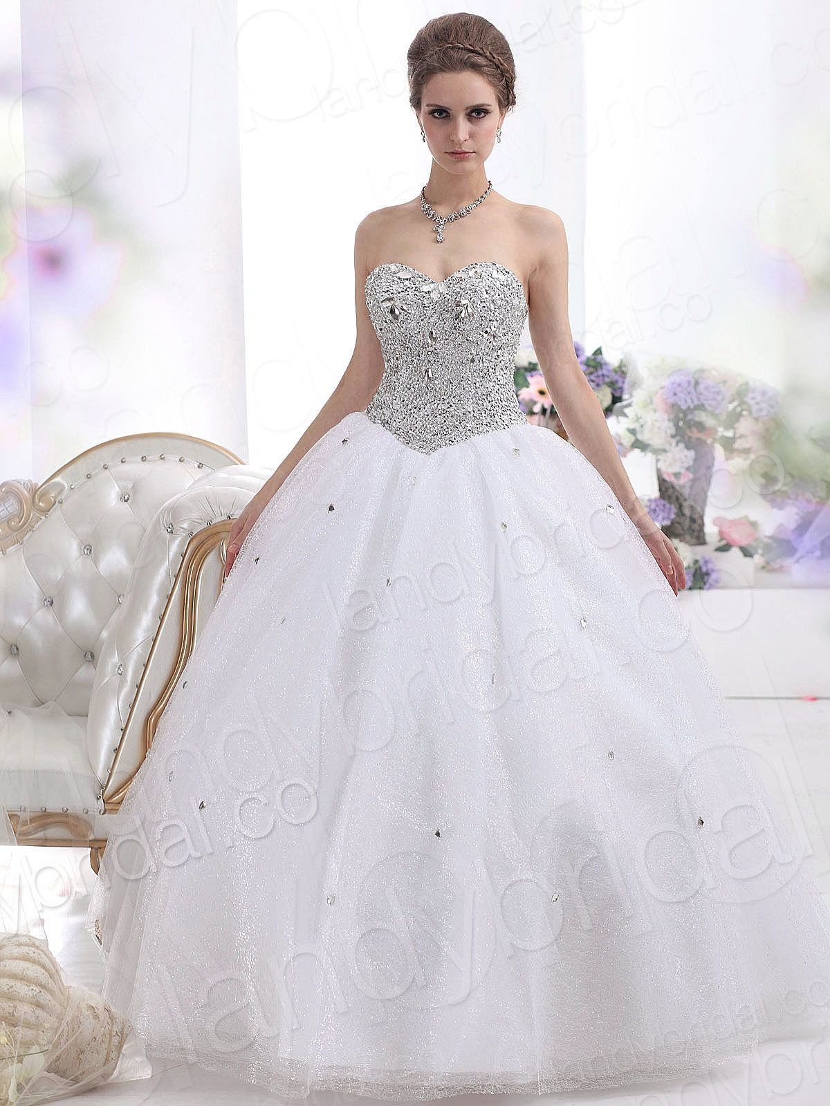 Strapless Ball Gown Wedding Dresses With Floor Length