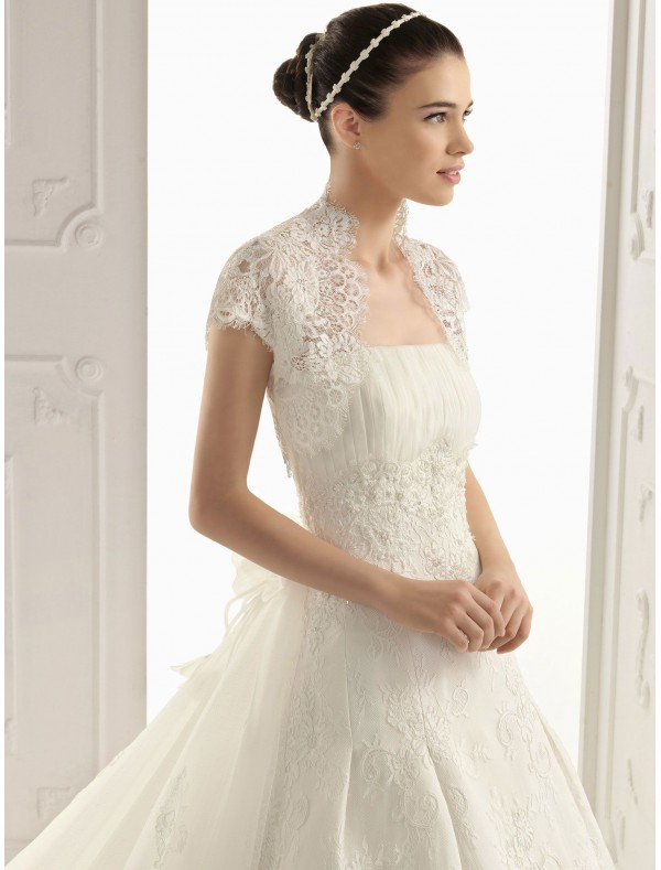 Wedding Dresses With Lace Short Sleeves 35