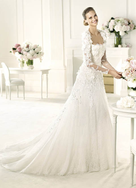 Wedding Dresses With Lace Sleeves And Open Back 48