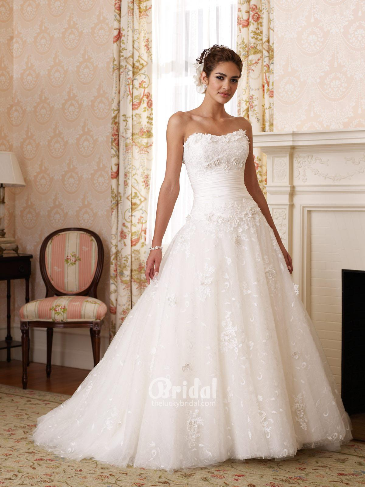 princess strapless wedding dresses