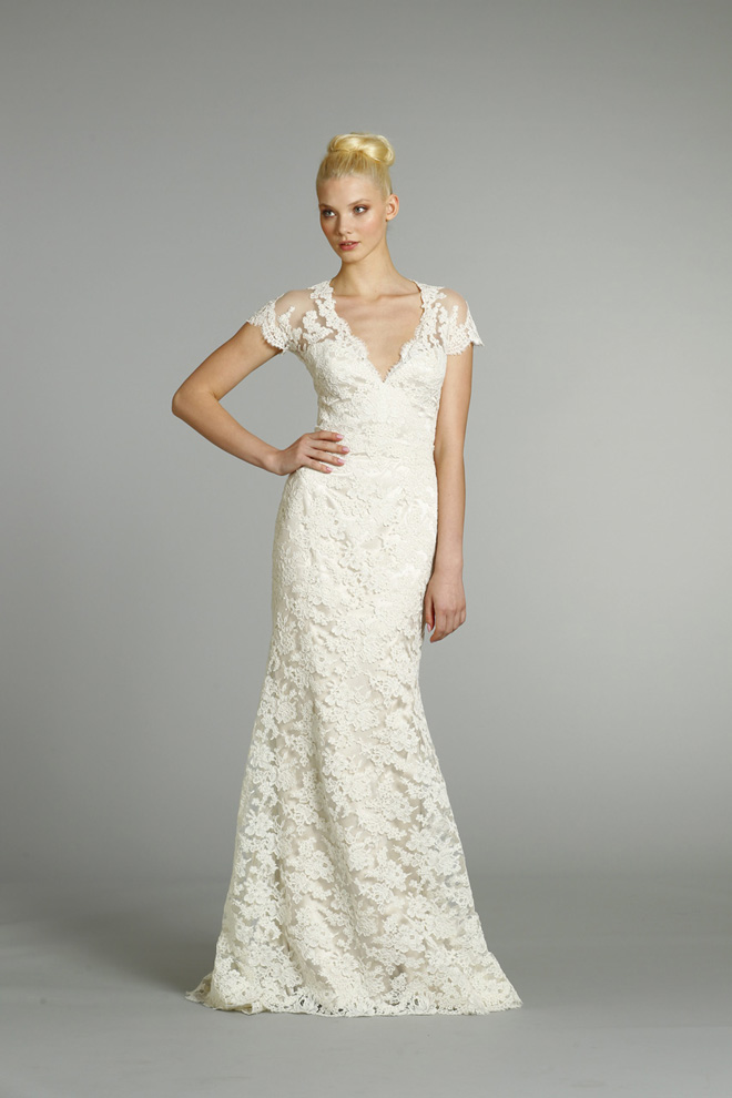 Wedding Dresses Vintage Lace Capped Sleeve - Wedding Short Dresses