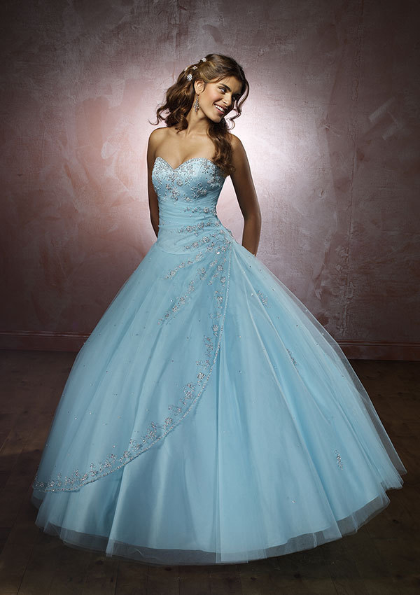 blue colored wedding dresses