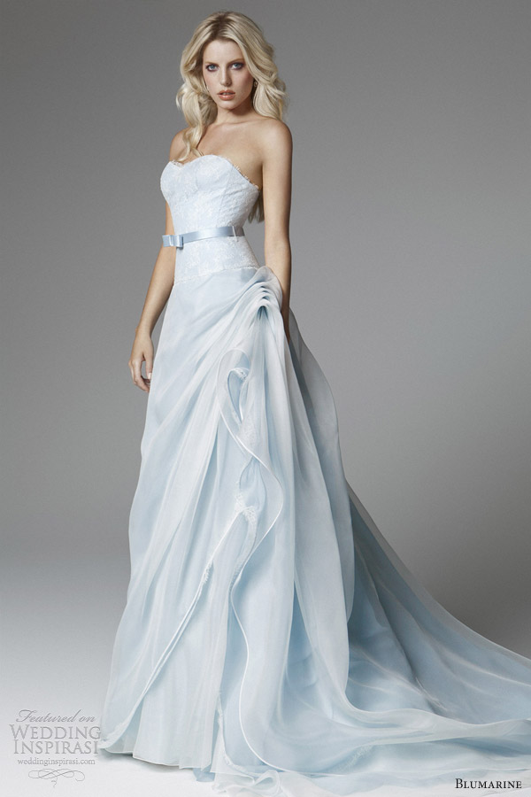 Beautiful blue wedding dresses as the symbol of love and for Marine wedding bridesmaid dresses
