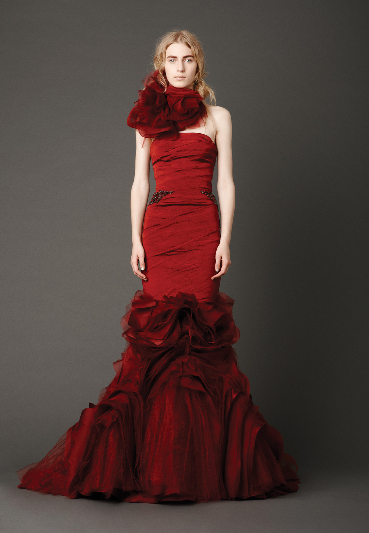 red wedding dresses vera wang sangmaestro On dark red wedding dress