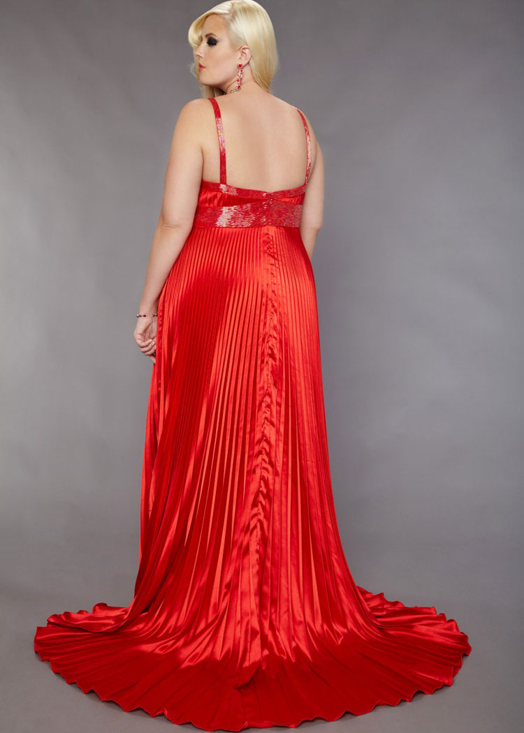Plus Size Red Bridesmaid Dresses