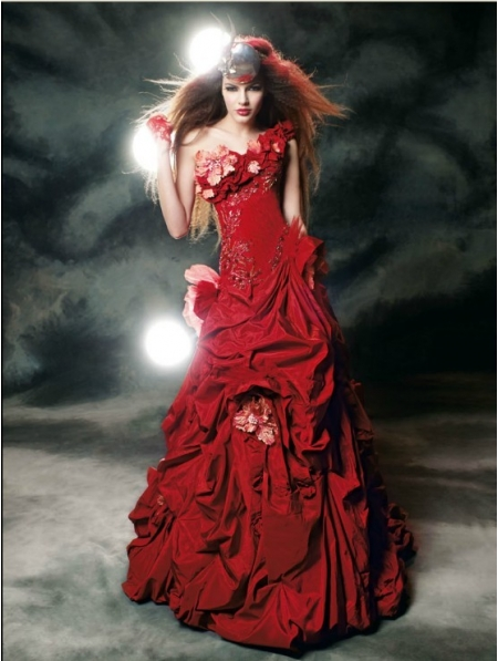 gothic wedding dresses red and black red gothic wedding dress
