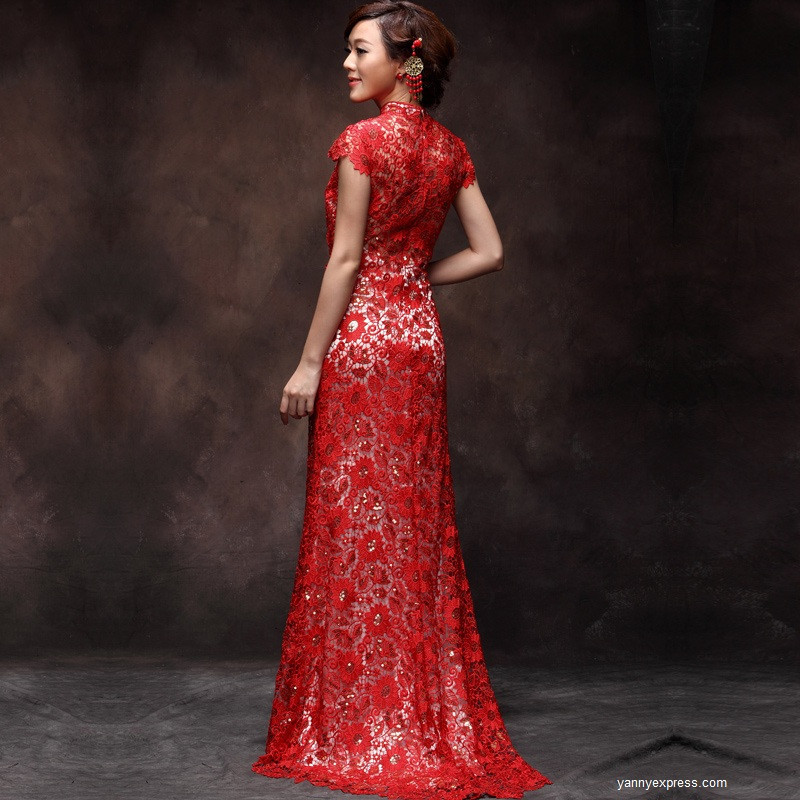 Red Lace Wedding Dress Sang Maestro