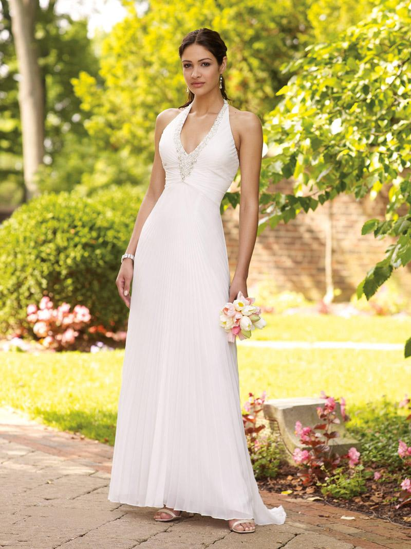 Simple halter wedding dress sang maestro for Simple casual wedding dresses