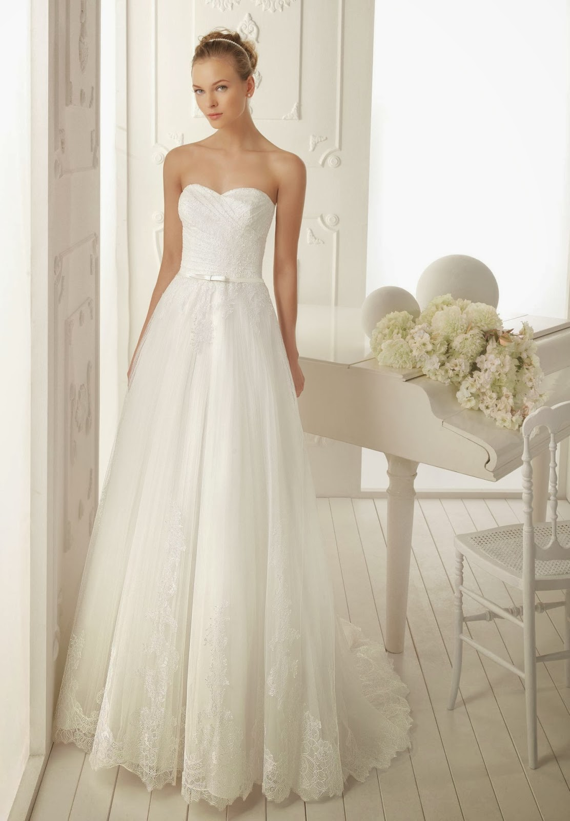 simple lace wedding dress sang maestro