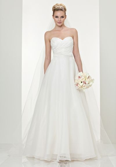 simple organza wedding dresses