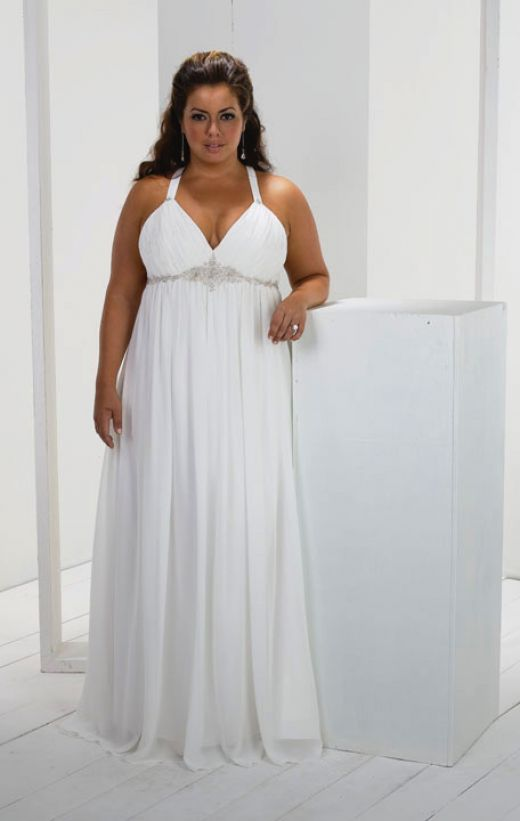 Stylish simple plus size wedding dresses for best bridal for Plus size simple wedding dress