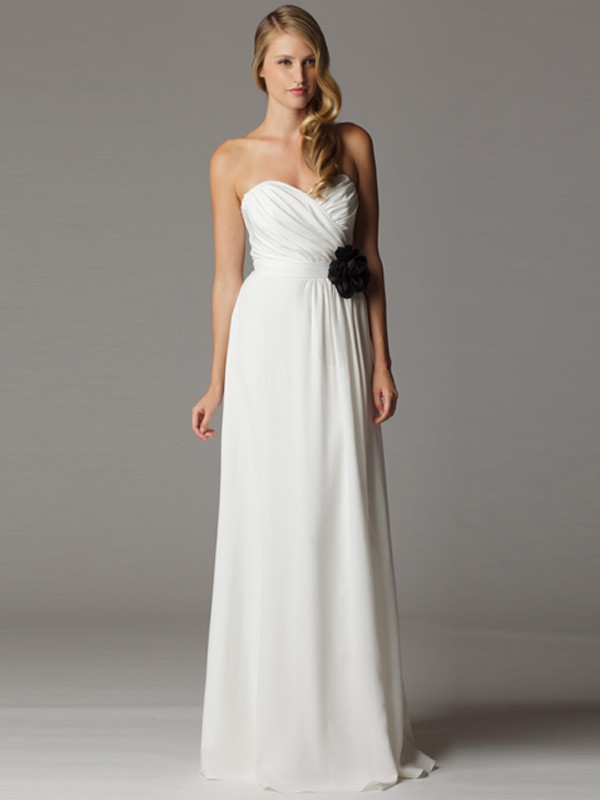 simple strapless wedding dresses for dazzling bridal look