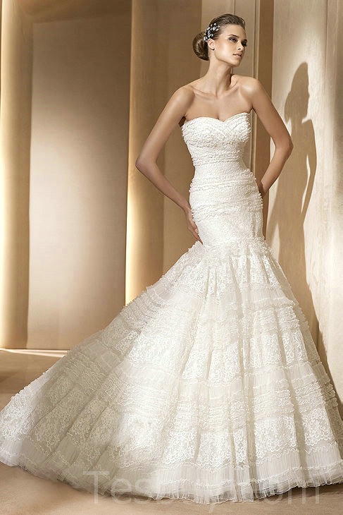 Famous designer mermaid bridal dresses for fabulous bridal for Princess mermaid wedding dresses