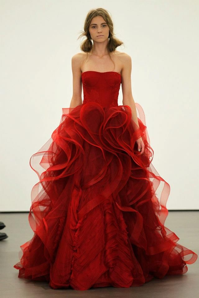 vera wang red wedding dress sang maestro