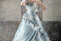 blue princess wedding dresses