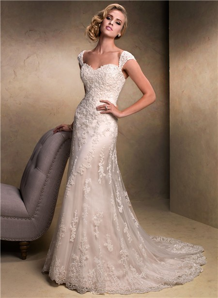 colored lace wedding dress