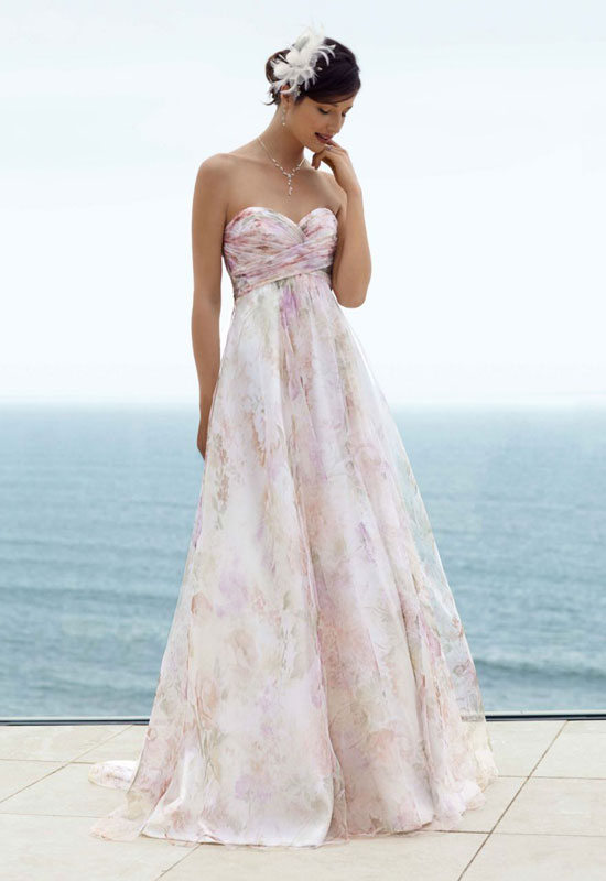 Stylish Beach Wedding Dresses : Stylish colored wedding dresses for the beach sexy