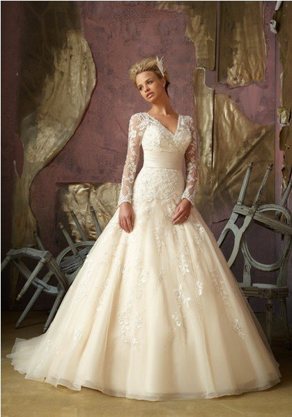 colored wedding dresses with sleeves