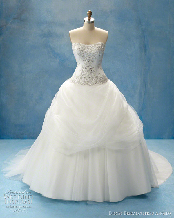 Gorgeous disney princess wedding dresses for fairytale for Designer disney wedding dresses