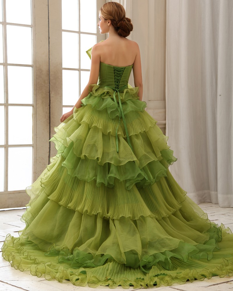 green princess wedding dress