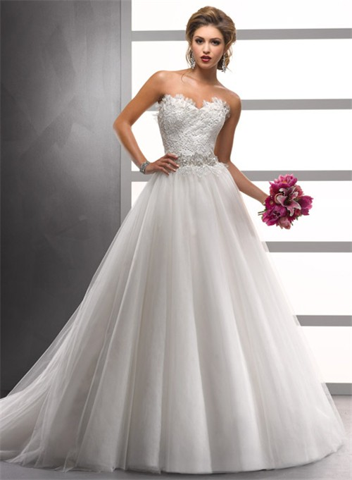 Aline Princess Wedding Dress