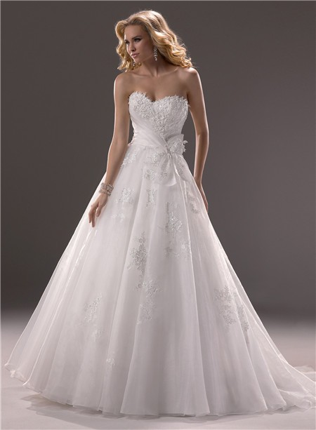 princess lace sweetheart neckline wedding dress with corset | Sang ...