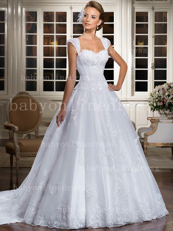 ... at 674 × 900 in Princess Wedding Dresses with Sleeves for Modest Look