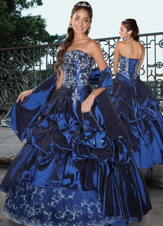 royal blue princess wedding dresses with beading
