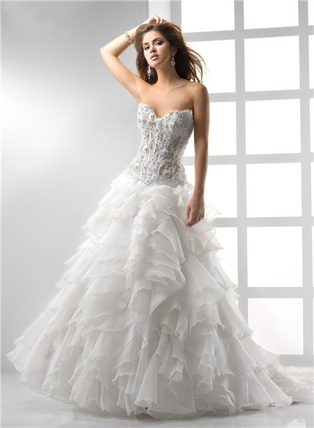 sexy a line princess wedding dress with corset sang maestro