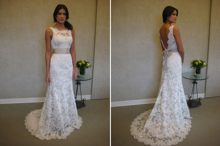 wedding dresses with a low back