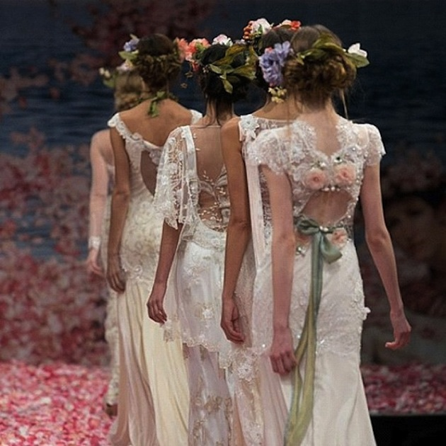 wedding dresses with amazing back detail by Claire Pettibone