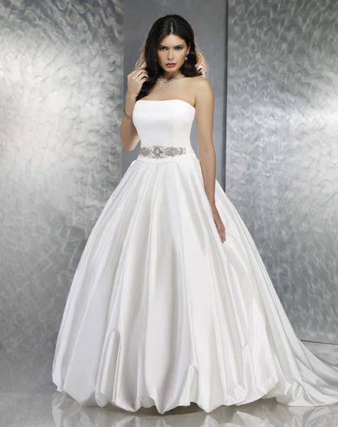 White cheap strapless princess wedding dress sang maestro for White wedding dress cheap