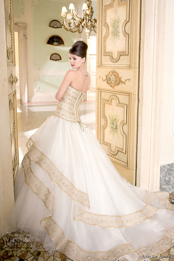 at 600 900 in the luxury of wedding dresses with gold accents