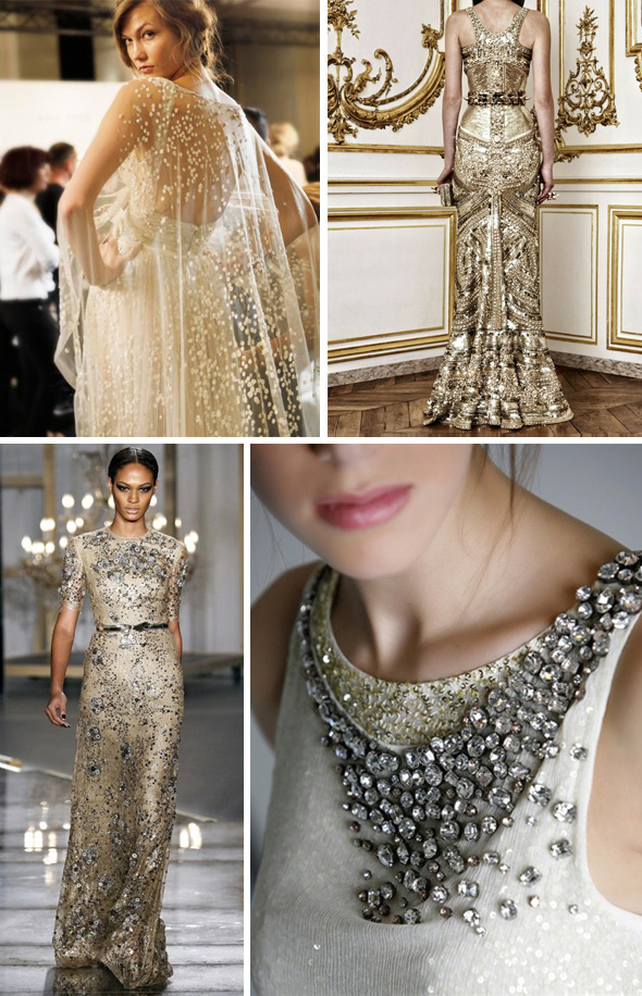 wedding dress with gold beading sangmaestro