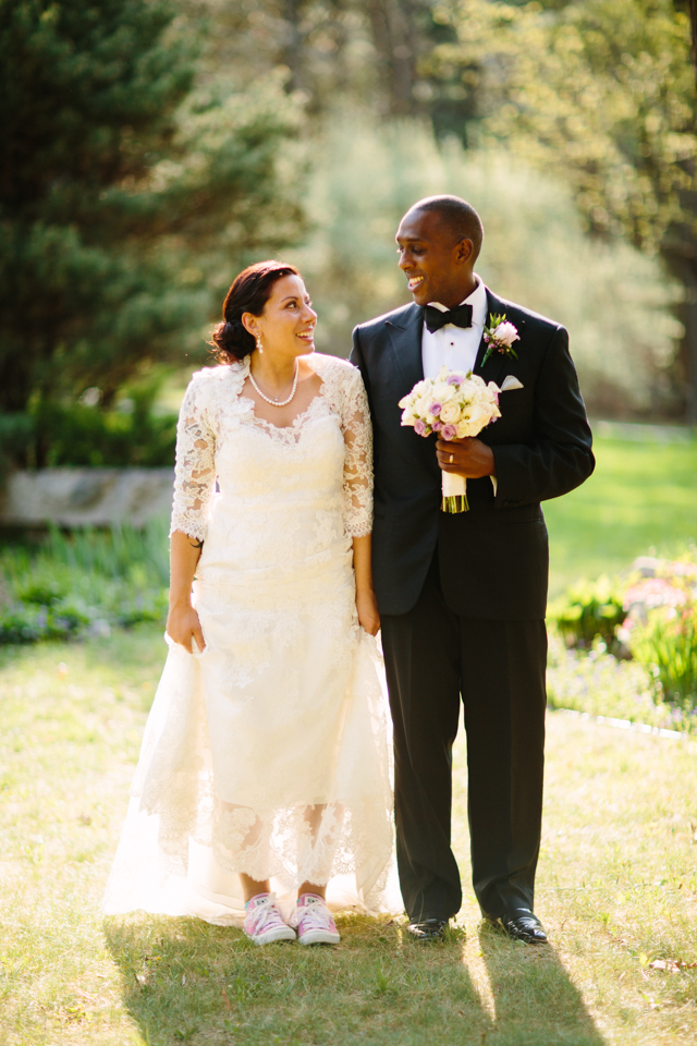 Lace Wedding Dress With Pink Converse Sang Maestro