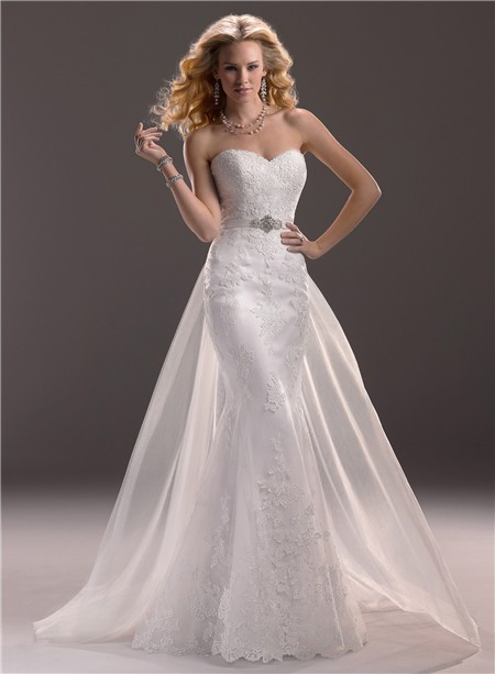 Gorgeous Wedding Dresses With Detachable Train Sang Maestro