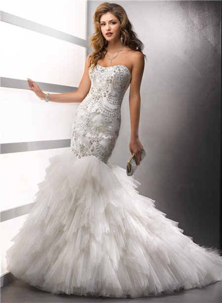 ... 450 × 613 in A Wonderful Collection of Wedding Dresses with Beading