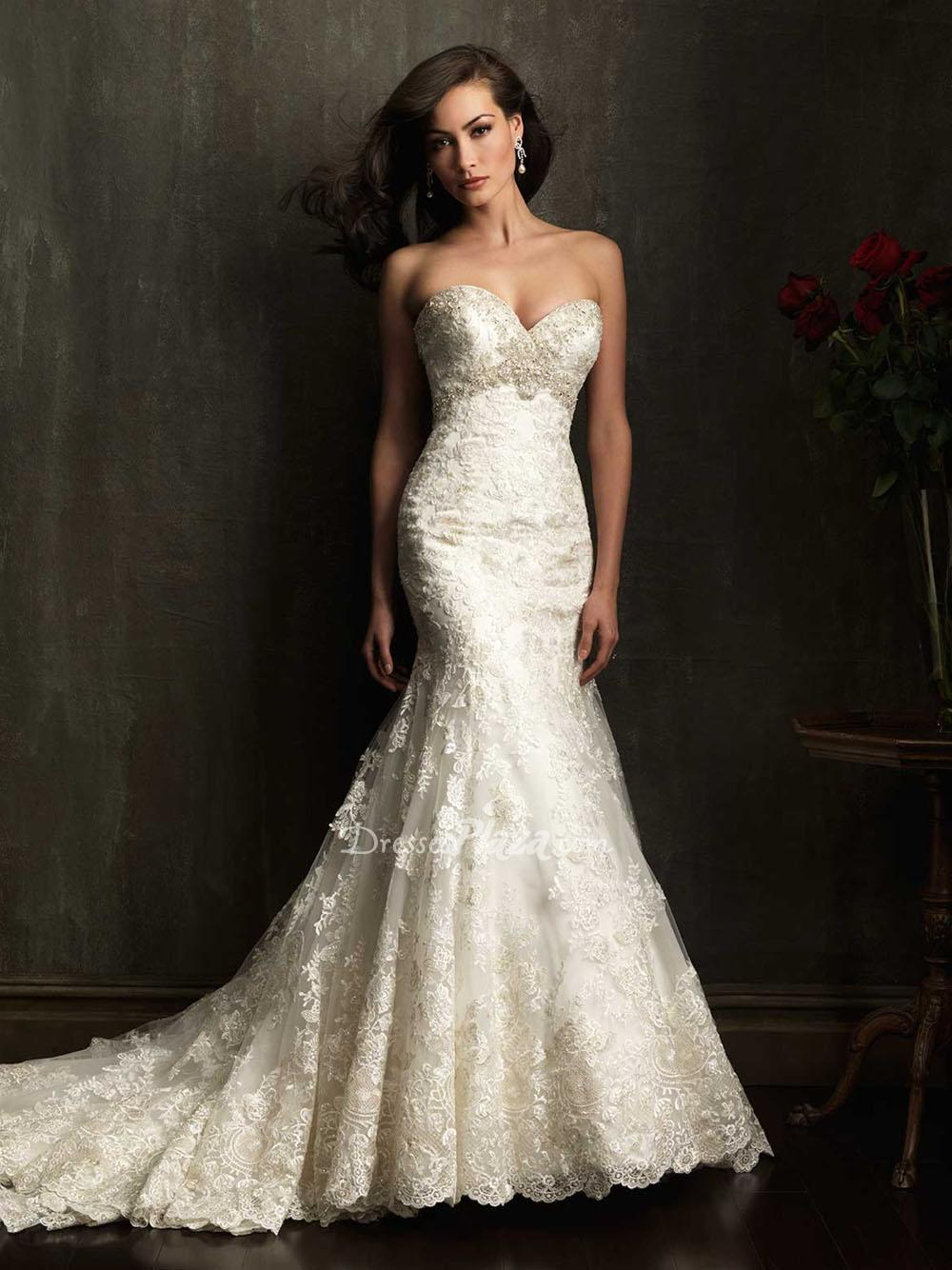 a classical collection of wedding dresses with beading and lace sang maestro