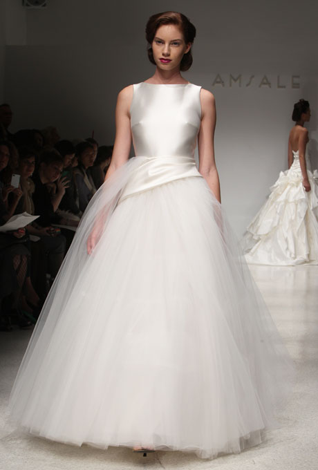 wedding dress with boat neckline