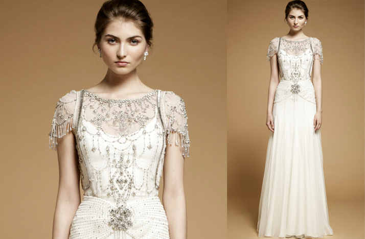 lovely photos of elegant wedding dresses with beaded