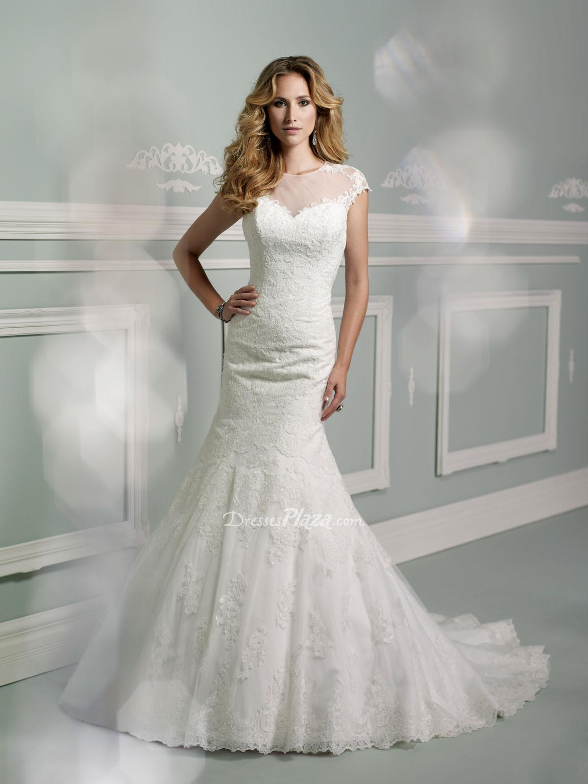 Sweet Wedding Dresses With Illusion Sleeves Sang Maestro
