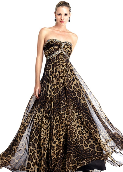 Leopard Print Wedding Dress Sang Maestro