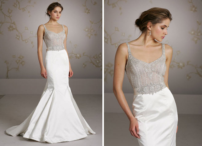 mermaid wedding dress with jeweled bodice