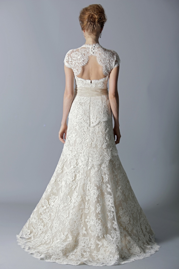 a collection of stunning wedding dresses with keyhole back