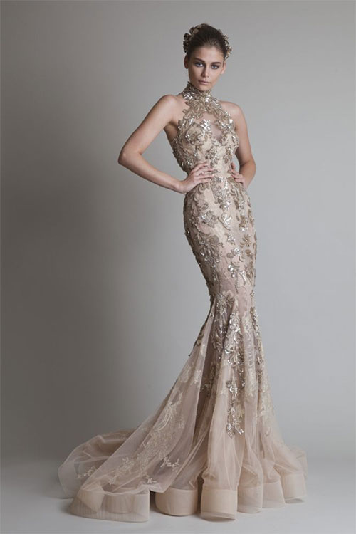 wedding dresses with gold embellishments