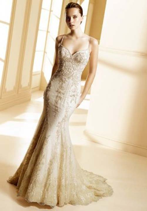 Gorgeous Wedding Dresses with Gold Lace – Sang Maestro Lace Gold Bridesmaid Dresses